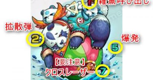 【モンスト】デスパンダ【極】攻略「怠獣?水上の熊猫雑技団」適正パーティ