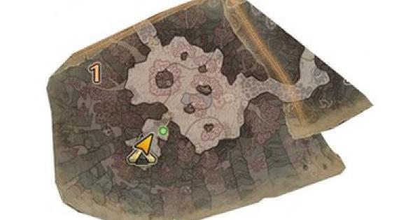 陸珊瑚の台地のマップ・入手可能素材一覧