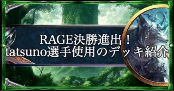 【シャドバ】RAGE決勝進出!tatsuno選手使用デッキとインタビュー【シャドウバース】