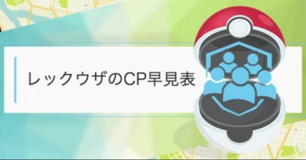 【ポケモンGO】レックウザのCP・個体値早見表