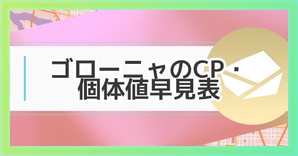 【ポケモンGO】ゴローニャのCP・個体値早見表