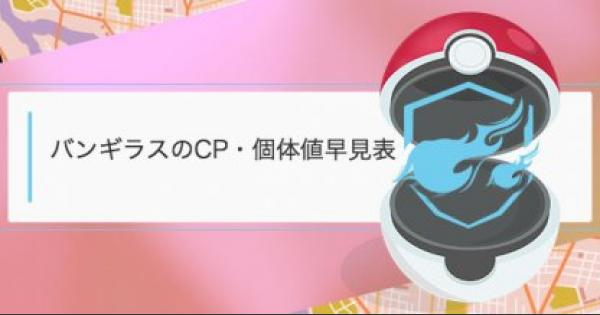 バンギラスのCP・個体値早見表