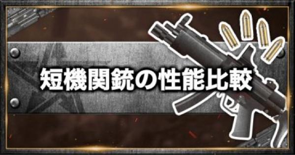 【荒野行動】サブマシンガン(短機関銃)の一覧と性能比較!