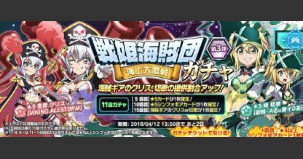 【シンフォギアXD】戦姫海賊団-海上大激戦-ガチャ登場カードまとめ