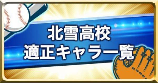 【パワプロアプリ】北雪高校のキャラ別適正ランク一覧【パワプロ】