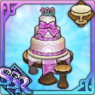 リリース100日記念のケーキテーブル