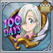 リリース100日記念のメダル
