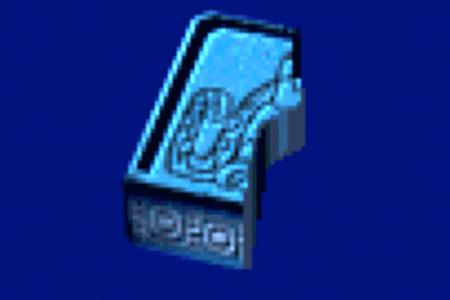 青い石(左)