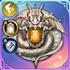 神蛇の黄金のアイコン