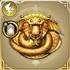 大龍の黄金のアイコン