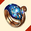 光り輝く泰山の指輪