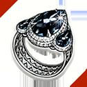 光り輝く白神霊の指輪