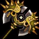 光り輝く五色斧