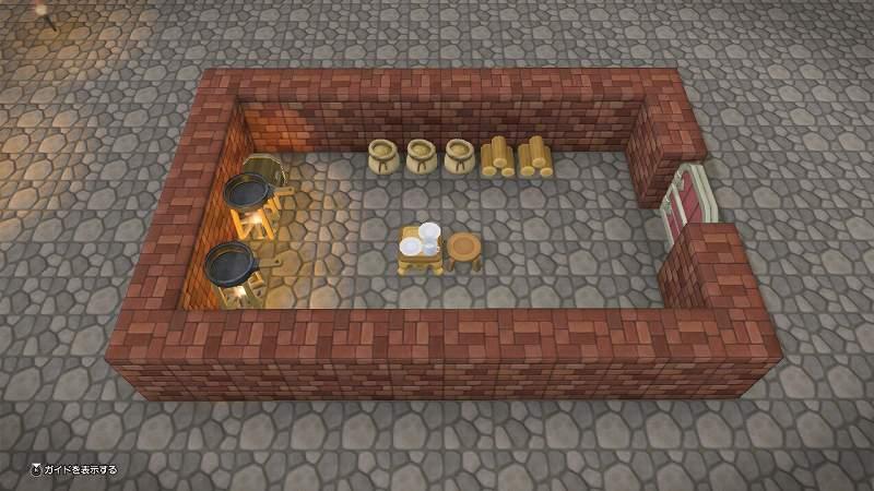 農家の食堂