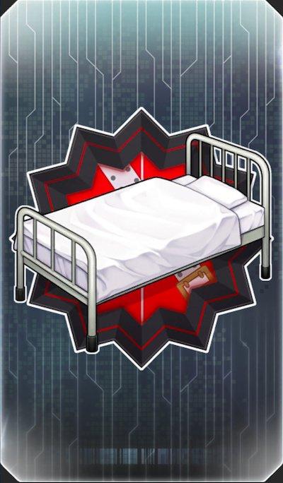 天使のベッドのイラスト