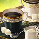 淹れ立てのコーヒーのアイコン