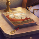 愛すべき子の下で、書を読むのアイコン