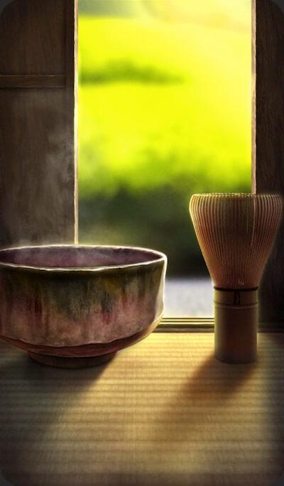 一服の茶のイラスト