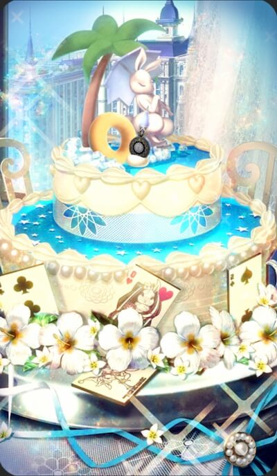 チョコレートケーキ・バニーホワイトのイラスト
