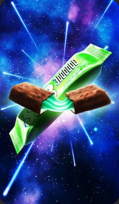SCB(スペース・チョコレート・バー)のイラスト