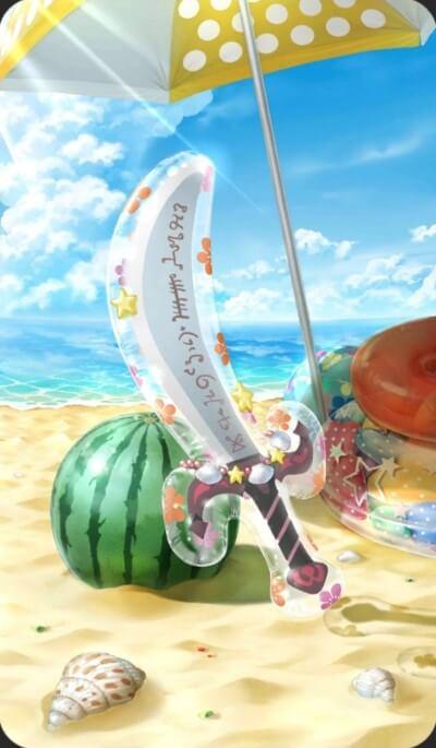 バルーンの偃月刀のイラスト