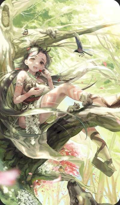 姫巫女の寸暇のイラスト