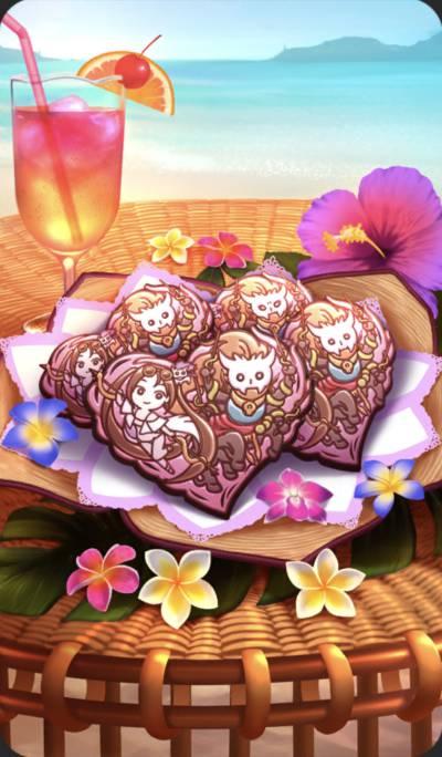 幸せを報告する義理チョコのイラスト