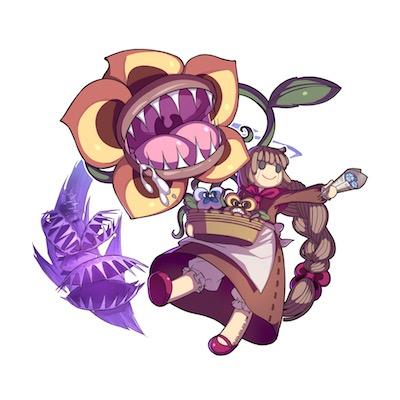 食虫植物売りの少女画像