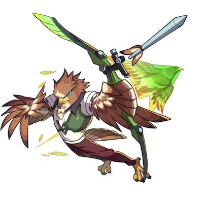 猛禽一の弓鳥 フェザー画像