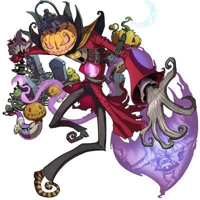 鳥怖い!かぼちゃ畑のクロウ人画像