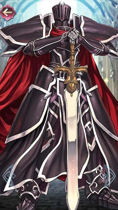 漆黒の騎士の立ち絵
