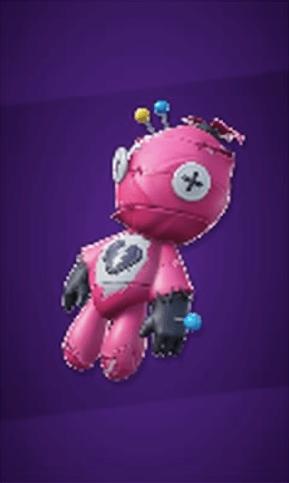 ピンクのクマちゃん人形の画像