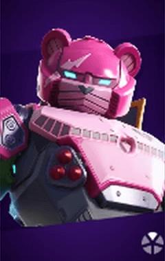 ピンクのメカクマちゃんの画像