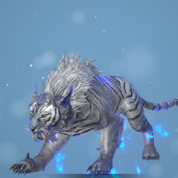 雪原トラ画像