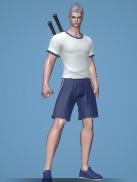 青い体操服
