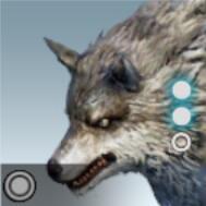 獰猛なオオカミアイコン