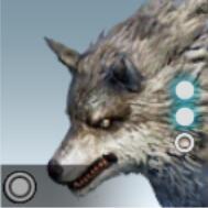 白色たてがみ狼アイコン
