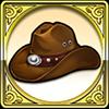 探検者の帽子のアイコン