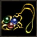 輝く古代のネックレス