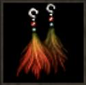赤いオークのイヤリング
