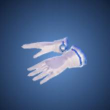 水玉の手袋のイラスト