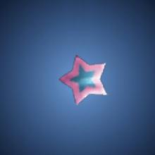 無邪気の星飾りのイラスト