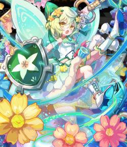 花鍵の碧風蝶メロロティア