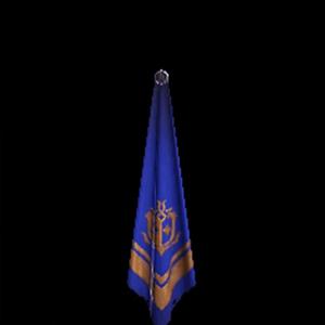 銅章のスカーフ・青