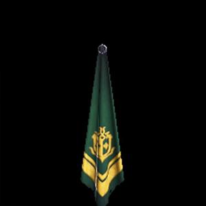 金章のスカーフ・緑