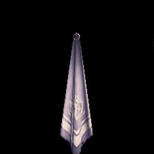 銀章のスカーフ・白