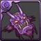 紫色の鬼神面のアイコン