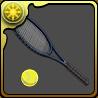 白石のテニスラケットのアイコン