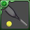 柳のテニスラケットのアイコン