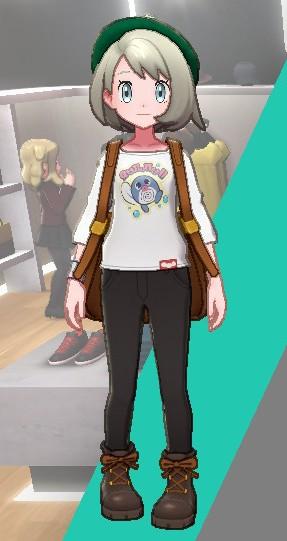 バスクシャツ-おたまプリント女